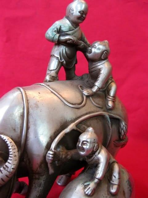 Rijetki stari srebrni kip / skulptura --- Pašnjak, najbolja - Kućni dekor - Foto 3
