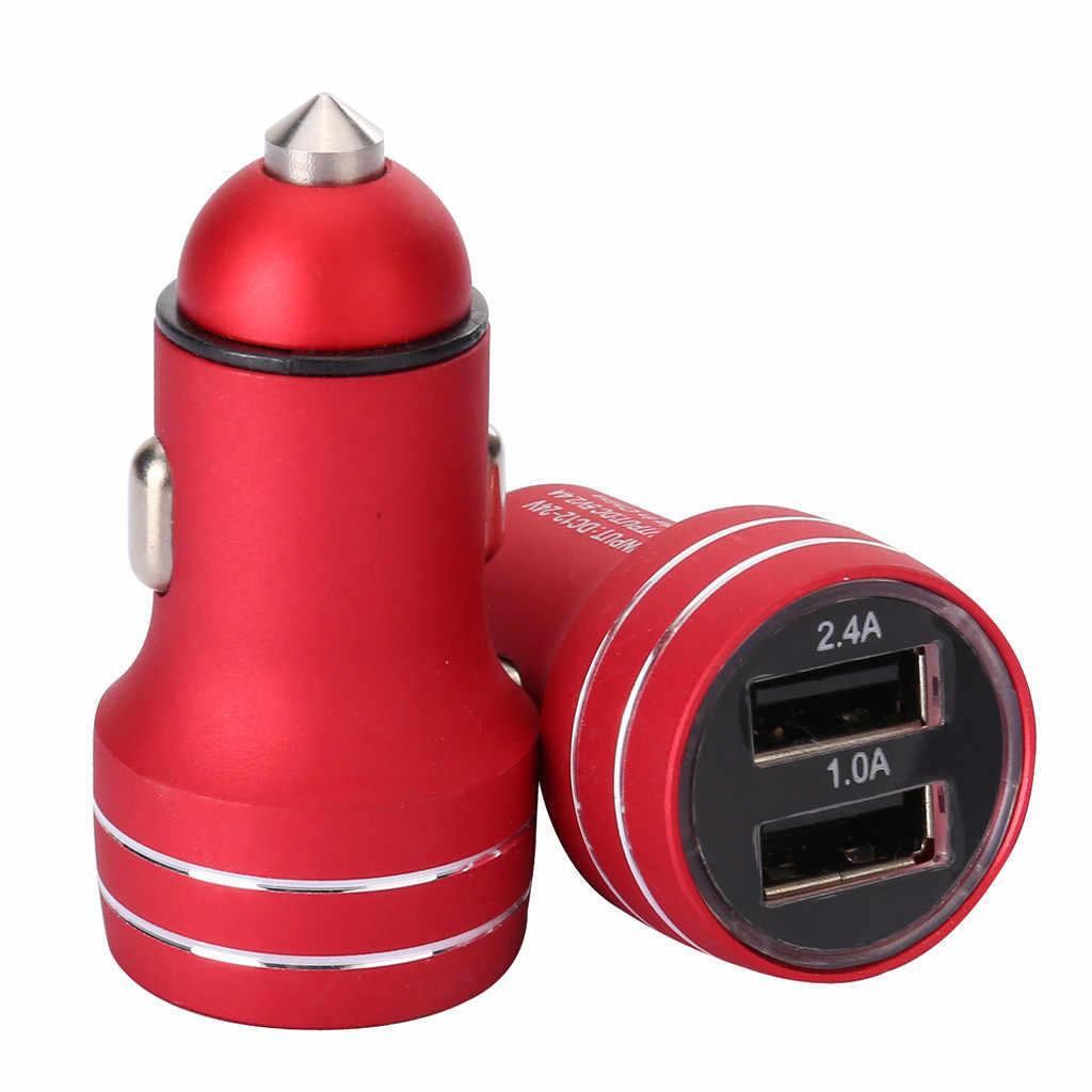 شاحن سيارة 5 V/2.4A/1A سريعة تهمة المزدوج USB مهايئ منفذ الجهد للهاتف ل xiaomi mi ل bmw لتويوتا ل honda samsumg