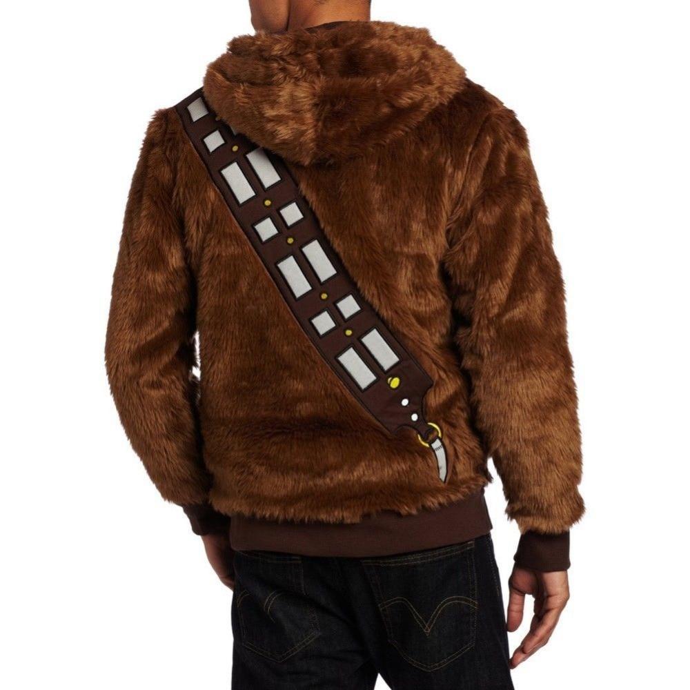 Star Wars Chewbacca Hoodie kostiumo striukė Cosplay - Karnavaliniai kostiumai - Nuotrauka 4
