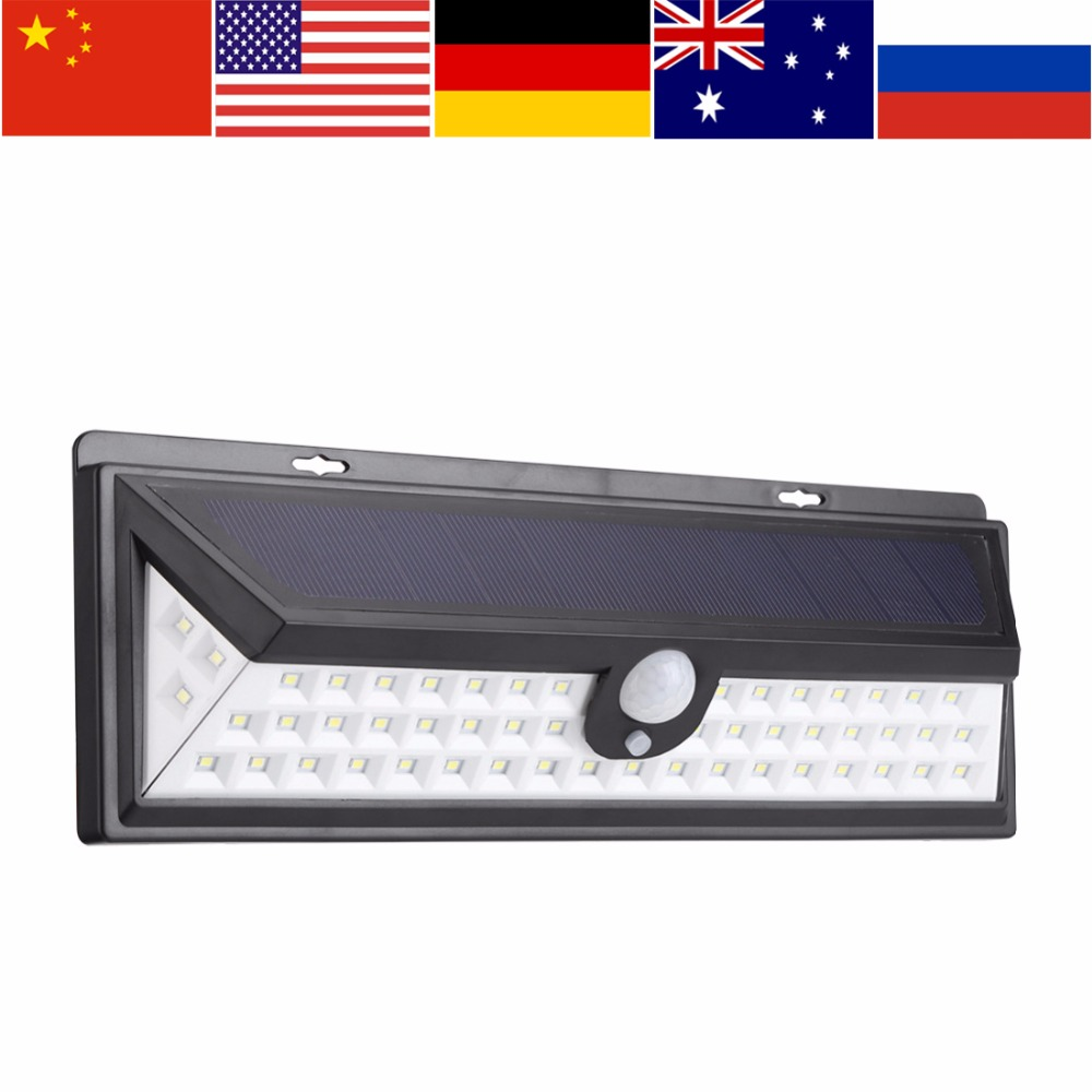 54 LED Outdoor LED Solar Light For Garden Powered Security Motion Sensor Light Lamp Gaarden Path Decor