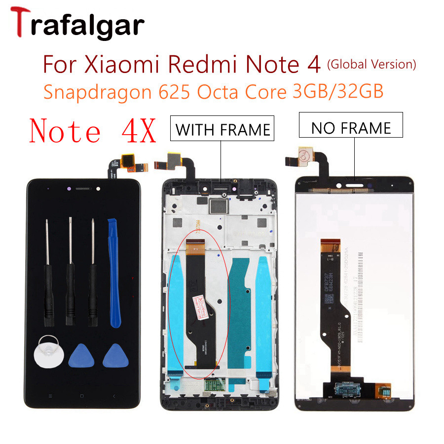 3GB 32GB Global Version Xiaomi Redmi Note 4X LCD Display Touch Screen Assembly For Xiaomi Redmi Note 4 4X LCD Replacement