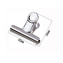 Top-Grip-Clips Office-Supply Metal Round 24pcs/Lot Stainless-Steel 62mm