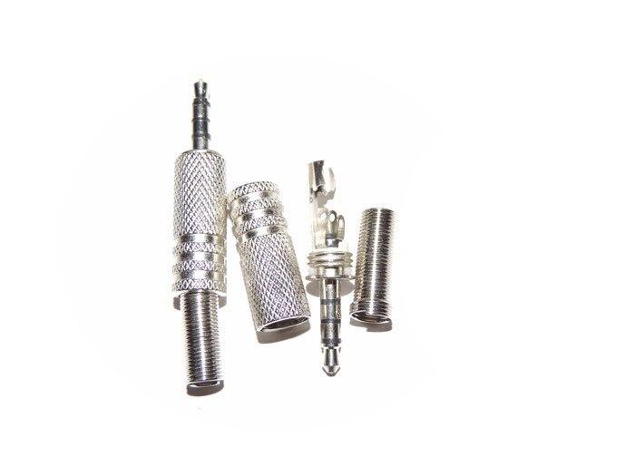 100pcs 3 5mm 4 Pole Male Repair Earphones Jack Plug Connector Audio Soldering