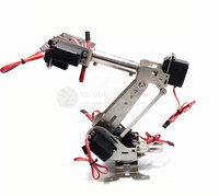 stainless steel 6DOF rotating robotic arm 6 large torque digital servos arduino r3 + servo extender