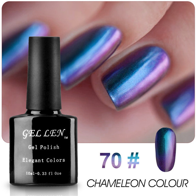 Gel Len LED Long Lasting Chameleon Gel Polish Elegant Colors Nail Art Glitter Soak Off Gel Varnish Polish 6 Colors