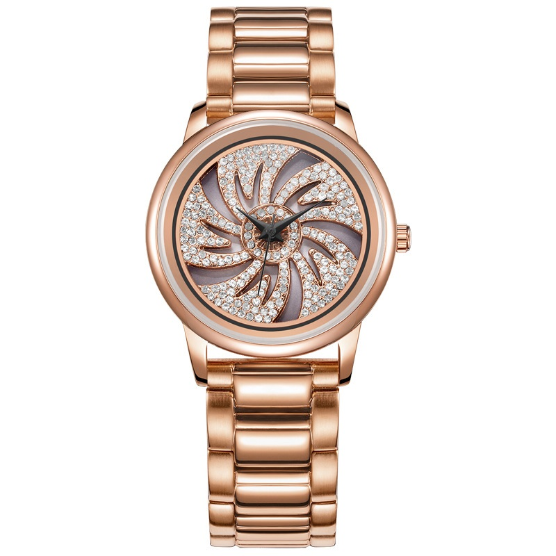 Dress watches reloj mujer FUYIJIA R015 Women's quartz watch ladies watch Rose Gold Diamond Luxury watches Brand waterproof clock brand reloj mujer leather strap women watches hours casual square clock rose gold quartz ladies watch luxury dress wrist watch