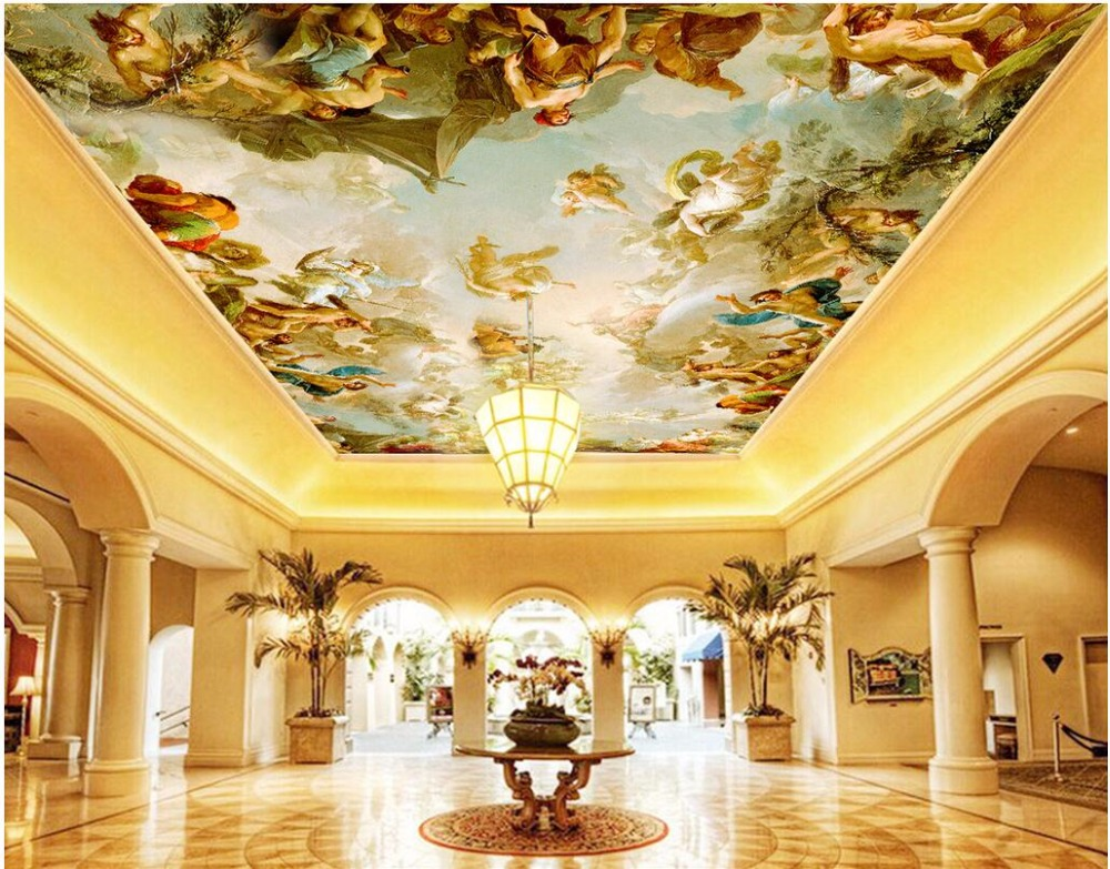 3d ceiling wallpaper custom photo mural European characters room decoration painting 3d wall murals wallpaper for 3 d 3d ceiling murals wallpaper aurora zenith living room ceiling mural custom photo murals wallpaper 3d ceiling