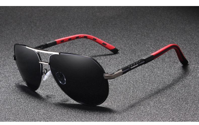 KINGSEVEN Aluminum Magnesium Men's Sunglasses Polarized Coating Mirror Fashion Glasses Male Eyewear Accessories For Men Oculos