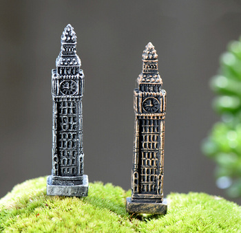 Big Ben Tower figures decorative mini fairy garden animal statue Home Desktop Gift Moss ornaments resin craft TNB070 1