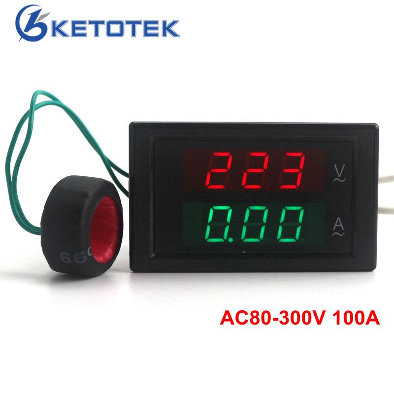 Ac Amp Meter Panel : Ac v a led volt amp meter voltage