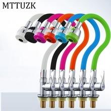 MTTUZK Твердый латунный кухонный кран силикагель любое направление вращающийся одинарный кран холодной воды бортике универсальный кран Torneira