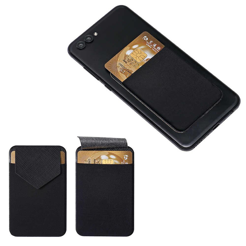 Uniwersalny telefon komórkowy etui z miejscem na karty mężczyźni elastyczne etui na telefon komórkowy kredytowe etui na dowód osobisty samoprzylepna kieszonka naklejana