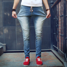 2016 New Fashion Hots Jeans Ripped Skinny Trousers Slim Men s Jean Denim Biker Pants Plus