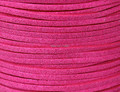 Free Ship 100 Meters 10mm x 1.5mm Metallic Hot Pink Flat Faux Suede Leather Cord For Necklace and Bracelet