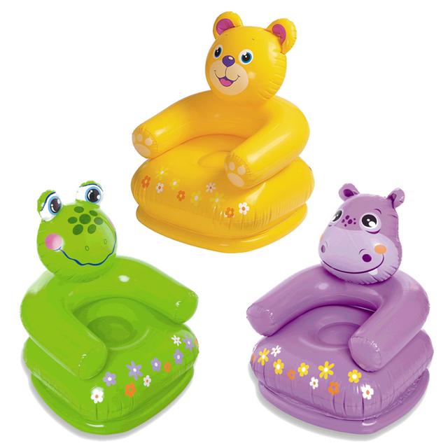 Crianças Sofá Inflável Dos Desenhos Animados de Animais de Modelagem Assento Do Sofá Cadeira de Jantar Do Bebê Adequado Para 2-8 Anos de Idade Do Bebê T01