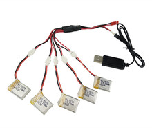 3.7V 150mAh H8 Lipo Battery 5Pcs and 5 in 1 cable Charger for Eachine H8 Mini RC Quadcopter