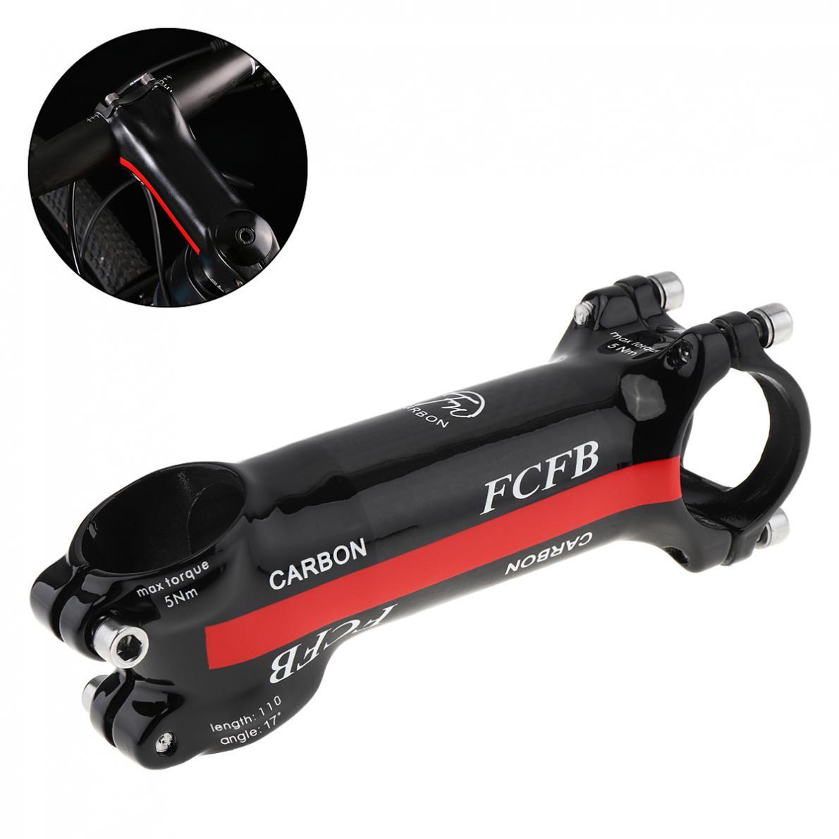 28.6- 31.8mm MTB Front Rod Stem Part 80mm 90mm 100mm 110mm Aluminum Carbon Fiber Road Bike 17 Degree Bicycle Handlebar