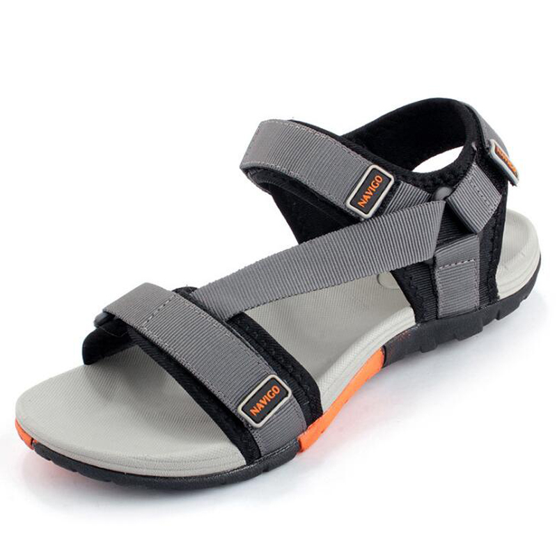 New 2019 Summer Men Sandals Fashion Hook & Loop Men Shoes Hard-wearing Men Beach Sandals Black Zapatos Hombre