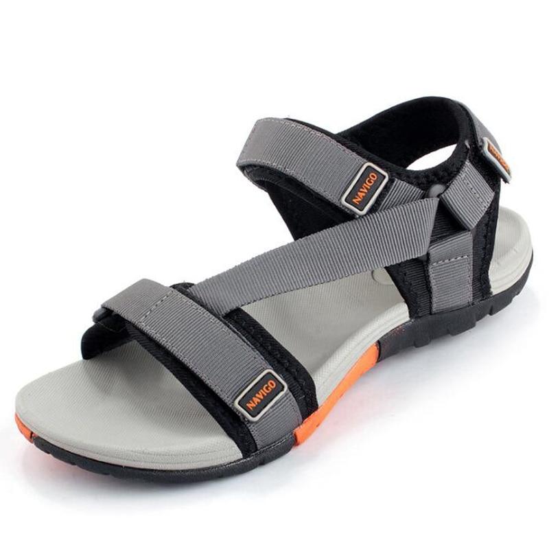 New 2019 Summer Men Sandals Fashion Hook & Loop Men Shoes Hard-wearing Men Beach Sandals Black zapatos hombre