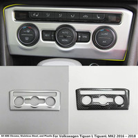For Volkswagen Tiguan L TiguanL MK2 2016 2017 2018 Garnish Cover Detector Trim Middle Air Conditioning