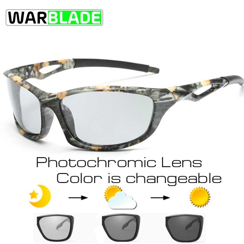 fbdcc74b48b 2018 Cycling Men s Photochromic Polarized Sunglasses Anti-UV Camo Driving  Eyewears for Men Women Driver