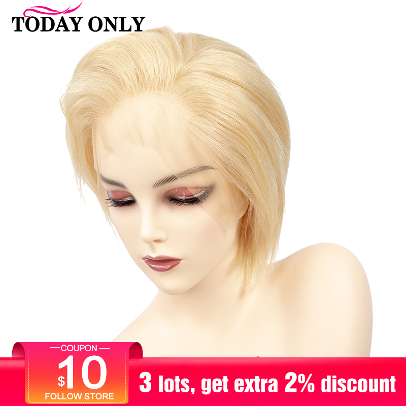 TODAYONLY Brazilian Straight Lace Front Wig Short Human Hair Wigs For Black Women Bob Lace Frontal