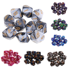 10Pcs 10 Sided Dice D10 Polyhedral DnD Dice for RPG MTG Dungeons and Dragons Party Table Board Games 10pcs set игры мульти sides dice d10 gaming кубики игры играть 5 цвет