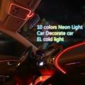 3 М АВТО интерьер установите свет зажима-край EL Провода Гибкий Неон Автомобилей Украсить прикуривателя Drive Бесплатно доставка