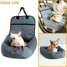 2019 Warm Pet Dog Cat Car Seat Protector Cover Mat Waterproof Carrier Basket Booster Winter fleece dog