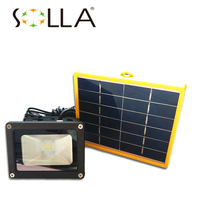 Waterproof 10W Solar Powered LED SpotLight Flood Light With 5M Wire 2200mA Battery 12 LED Sensor