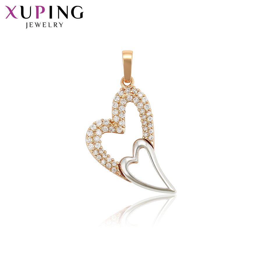 11.11 Deals Xuping Jewelry Romantic Heart Shaped Necklace Pendant With Synthetic CZ for  ...