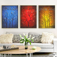 Nordic Fine Art giclee canvas abstract tree Wall art painting Pictures print  living room Decoration MN