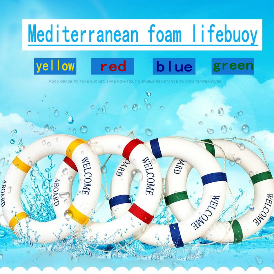 Mediterranean Style Solid Foam Swimming Lifesaving Ring Professional Ornament Life Reserve Life Buoy