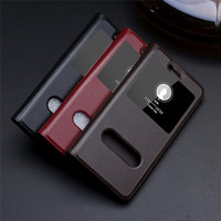 CYBORIS Cases For Huawei Honor 8 Lite Flip View Window Magnetic Genuine Leather Cover For Honor