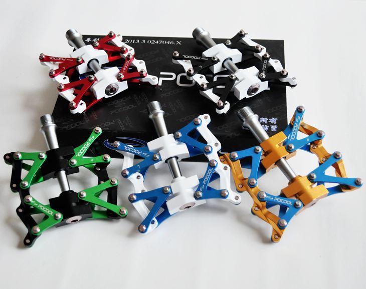 POCOOL F1 alliage d'aluminium pédales de vélo clipless VTT de route BMX roulement pédales bricolage transformateurs pièces de vélo