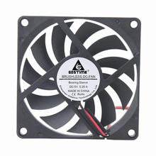 2 шт./лот Gdstime 5V 2Pin 80 мм(8 см), 80x80x10 мм 8010 электродвигатель вентиляции охлаждающий вентилятор постоянного тока