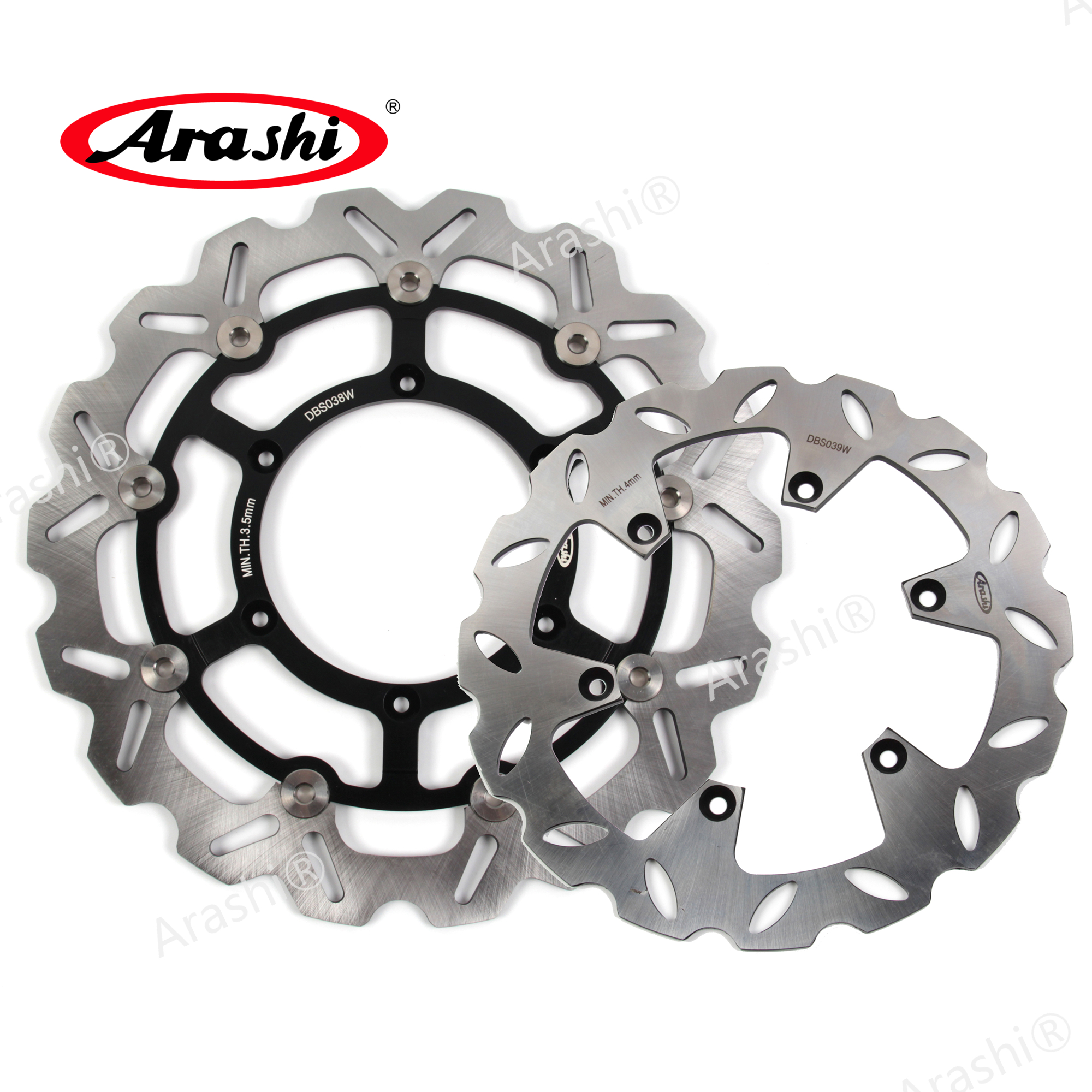 Arashi 1 Set DRZ 400 SM CNC Front Rear Brake Disc Brake Rotors For Suzuki DRZ400SM