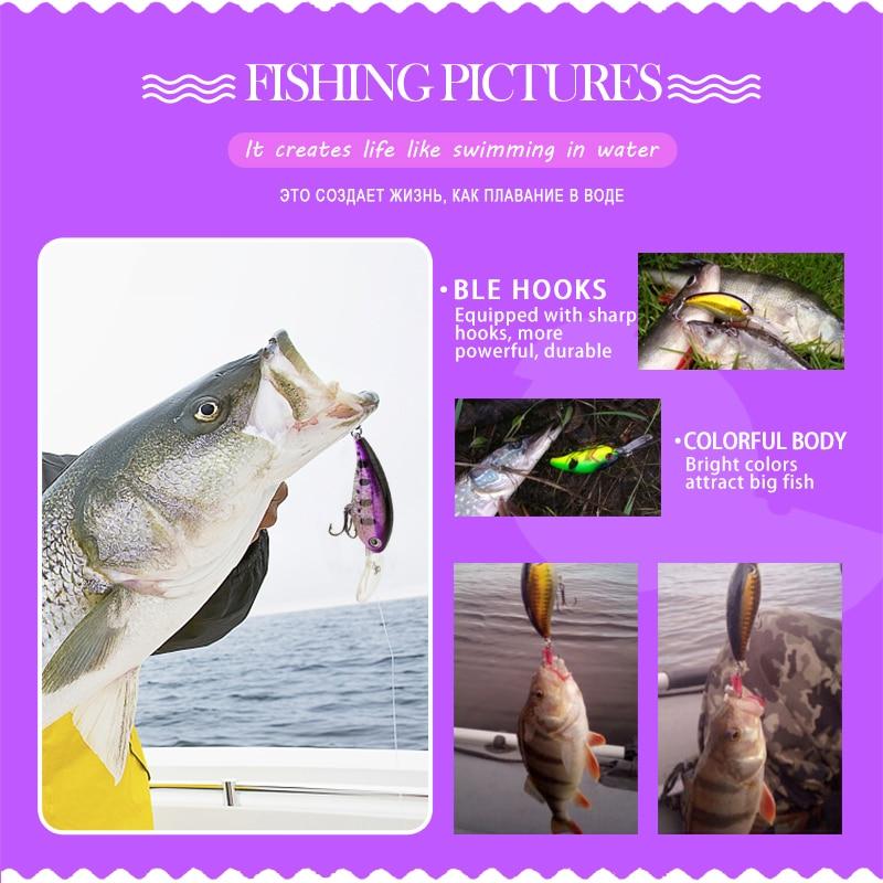 DONQL Minnow Crankbait Balıkçılık Cazibesi 14g 10 cm Wobblers - Balık Tutma - Fotoğraf 6