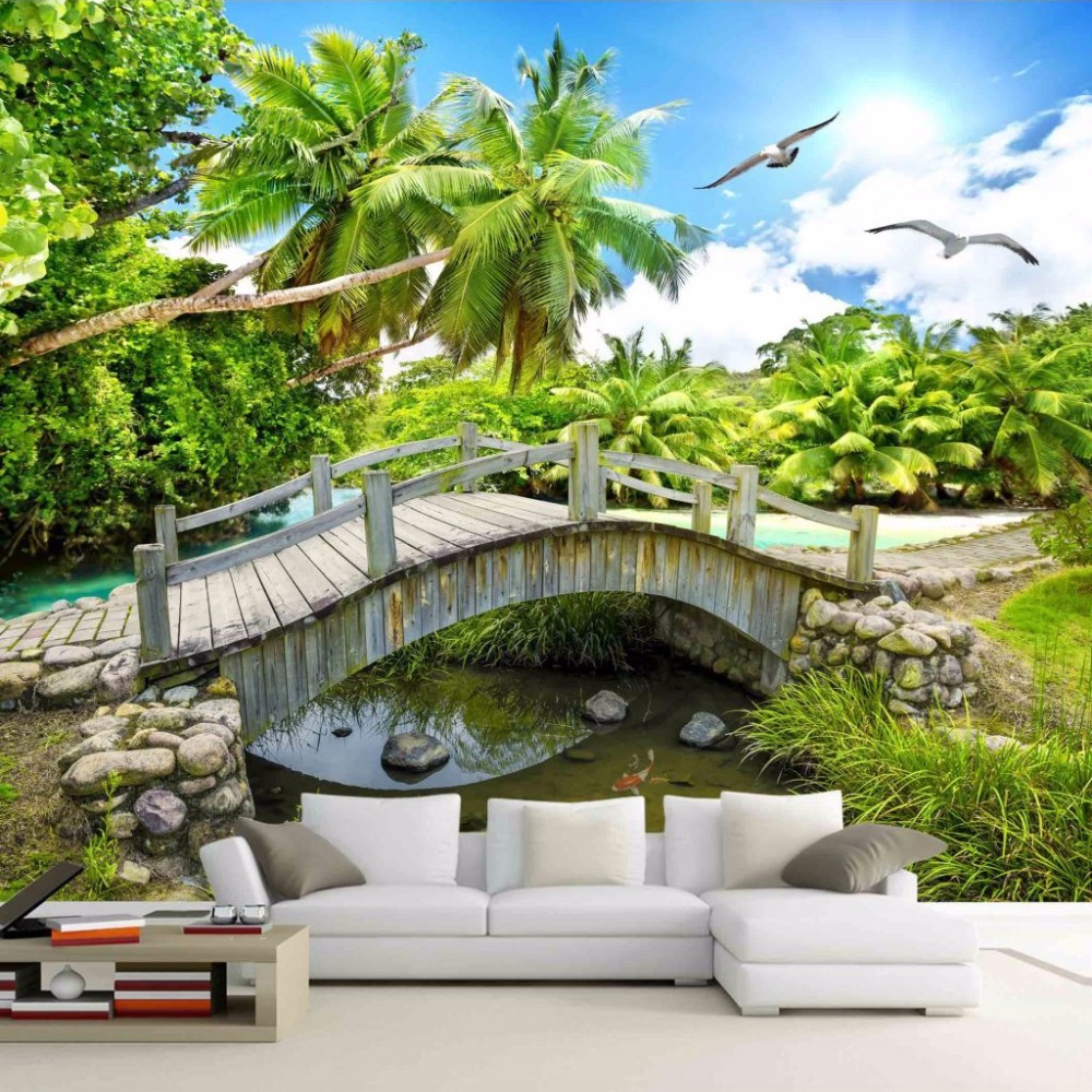 Custom 3D Photo Wallpaper Roll Nature Landscape Photography Background 3D Room Decoration Pictures Wall Painting Living Room