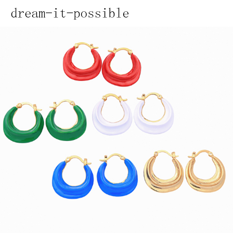 Dream-it-possible 5pair real copper woman enamel dangle earring 2019 korean fashion designer drop jewelry wholesaleDream-it-possible 5pair real copper woman enamel dangle earring 2019 korean fashion designer drop jewelry wholesale