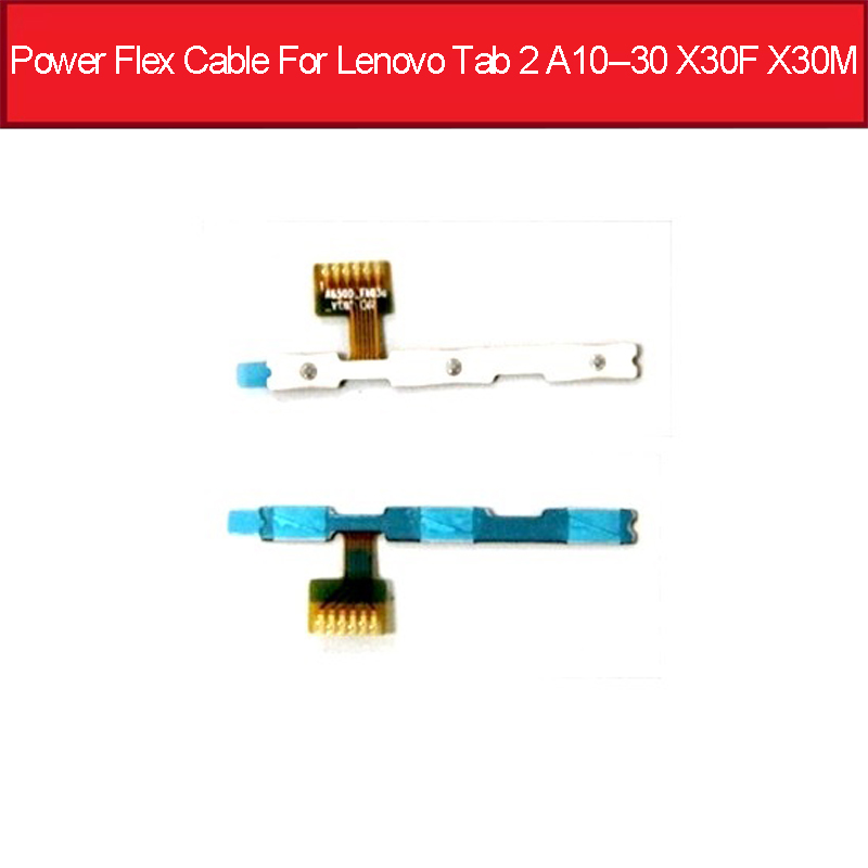 On Off Power Flex Cable For Lenovo Tab 2 A10-30 TB2-X30L X30F X30M Power Sleep Button Flex Ribbon Replacement Parts