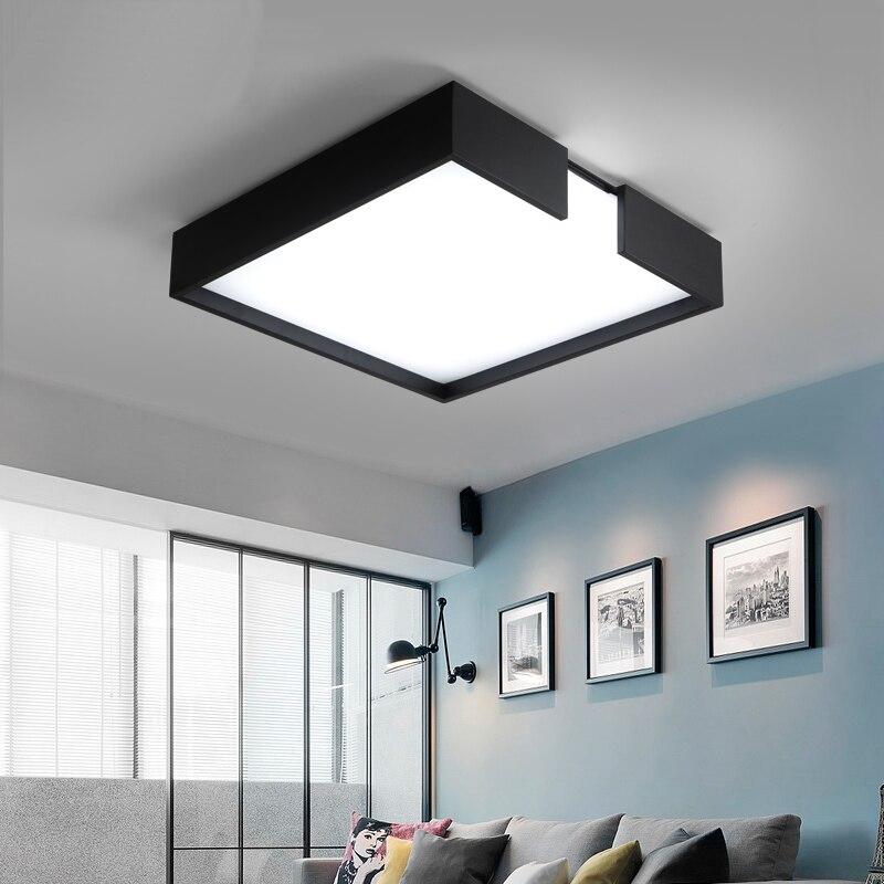 nueva llegada minimalismo moderno llev las luces del techo creativo rectangular lmpara de luminaria de techo