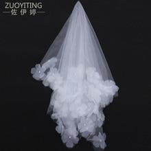 ZUOYITING esküvői menyasszonyi kétrétegű fátyol fésűvel Ivory / fehér elegáns esküvői kiegészítők velos de novia voile de mariee