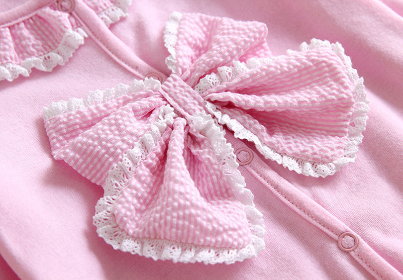 Princess Style Newborn Baby Girl Clothes Bow/Flowers Romper Clothing Set Jumpsuit & Headband Cute Infant Cirls Rompers