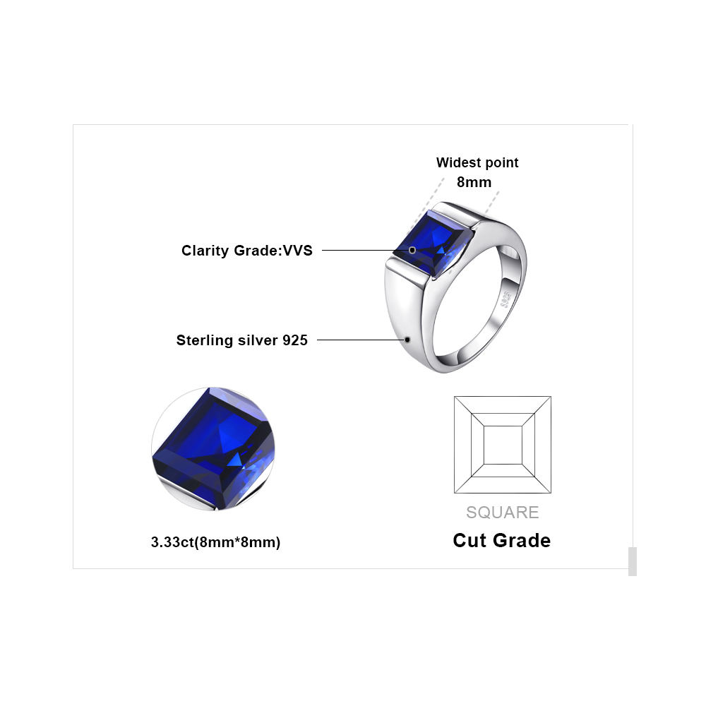 item wedding jewelrypalace solid feelcolor accessories man gift sapphire s sterling wholesale engagement men rings new from jewelry square ring alexandrite sliver vintage in created succinctly party