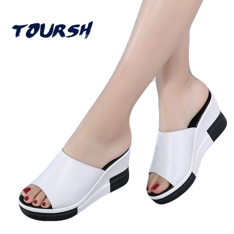 2018 Hot Sale Women Summer Fashion Leisure Shoes Women Platform Wedges Fish Mouth Sandals Thick Bottom Slippers Chaussure Femme lanyuxuan 2017 new hot sale sandals