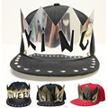 Baseball Cap Golden Metal KING QUEEN Hats Black Men Women LOVER Hip Hop Caps Snap back Adult nightclub performances boy hip-hop