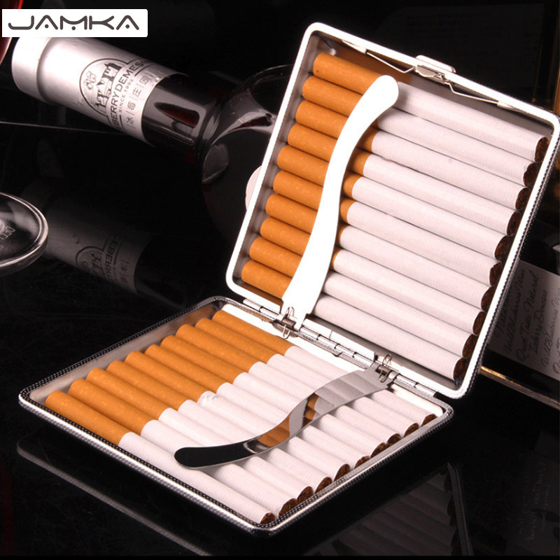 (20 Cigarette ) Cigarette Case Fashion PU Automatic Cigarette Box Gift Men's Cigarette Gift