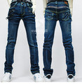 Cool Zipper Fold Denim Jeans Pants for BJD Doll 1/4,1/3,Uncle SD MSD Doll Clothes CM71