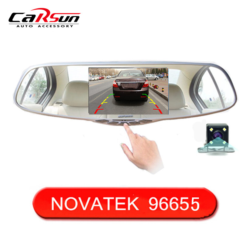 "5.0"" IPS Screen FHD1080P Car DVR Original NTK96655 Rearview Mirror video recorder Car DVRS Dual Camera Black Box"